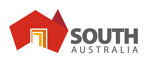 Logo South Australia, rot orange